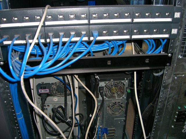Another rear view center patch panel